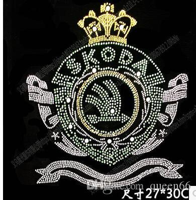 DIY 27*30cm Personality chest bling crystal patterns clothing accessories Hot Fix Rhinestones motif Heat Transfer on Design Iron On clothes