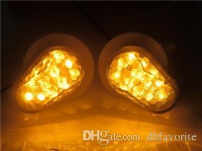 2x JDM Style Flush Mount Klare Linse 15 Bernstein LED Blinker Licht Blinker Indikator Seitenmarkierung für Yamaha yzf R1 R6 2003-2008