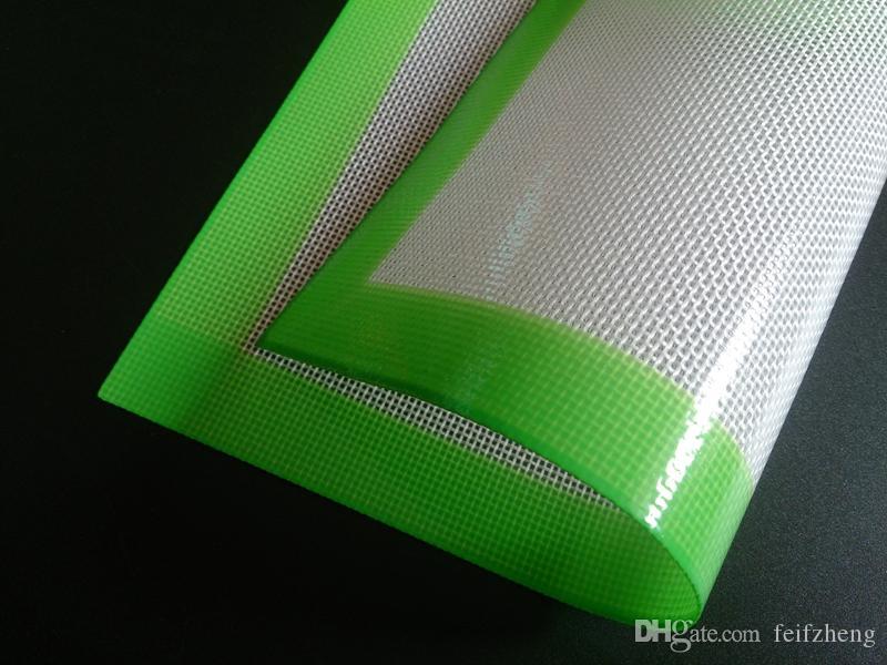 Silikonwachs-Pads trockene Kräutermatten groß 20cm rund oder 31 * 20cm quadratisch matt Tupferblätter Gläser Tupferwerkzeug für Silikon-Tupferölbehälter
