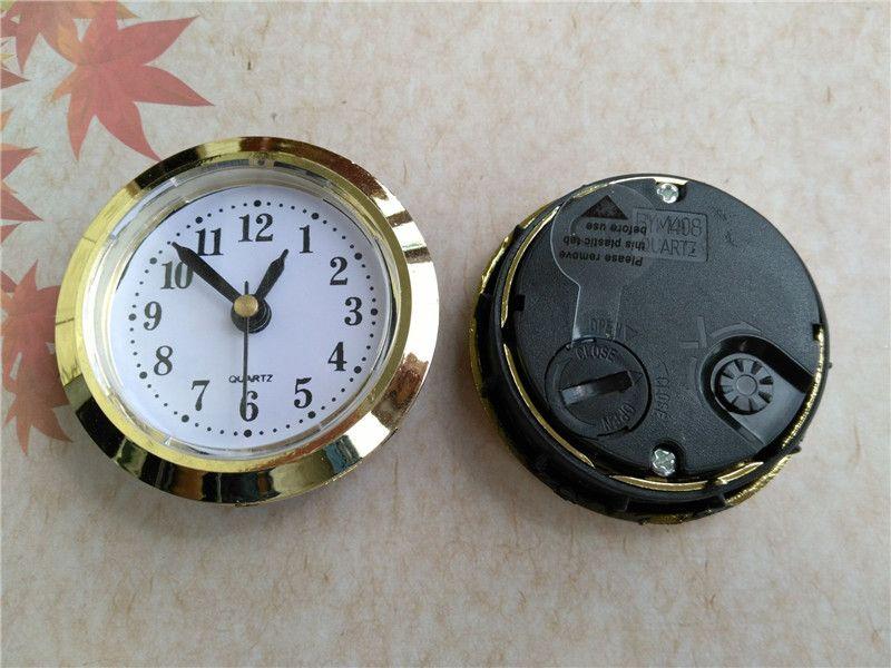 Wholesale Gold Diameter 50mm Insert Clock Built - in Clock Roman and Arbic Number for Craft Clock