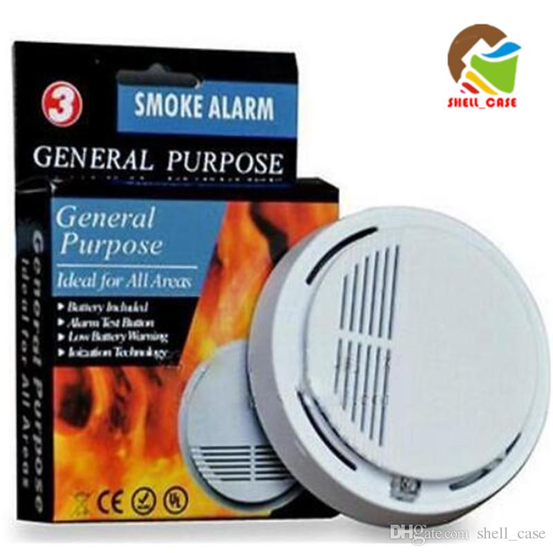 Independent Wireless Fire Smoke Detector Smart Smoke Sensor Alarm With Red Led Ceiling Installation Punctual Timing Smoke Detector