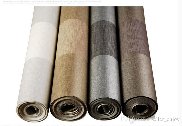 Vintager Tapetenrollenklassiker metallischer Glitterstreifen-Tapetenhintergrundwandtapete 3d weißer Hauptdekor