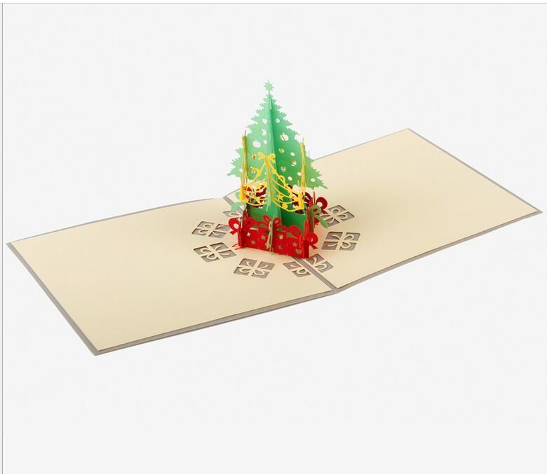 Eco-Friendly di Natale Biglietti d'auguri 3d mano pop up auguri regalo di natale Carte Gift Card Gift Paper partito Holiday Card Invitation