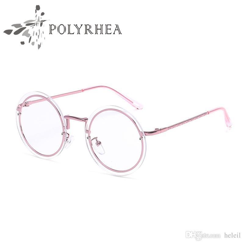 2018 Luxury Brand Round Frames Eyeglasses For Women Vintage ...