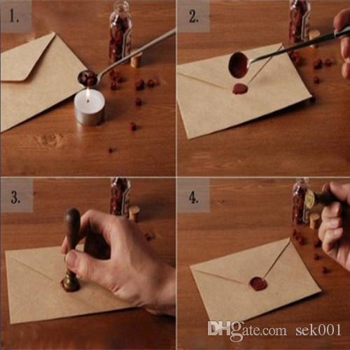 Винтаж паук паутина сургучная печать штамп подарочной коробке комплект свадебных приглашений
