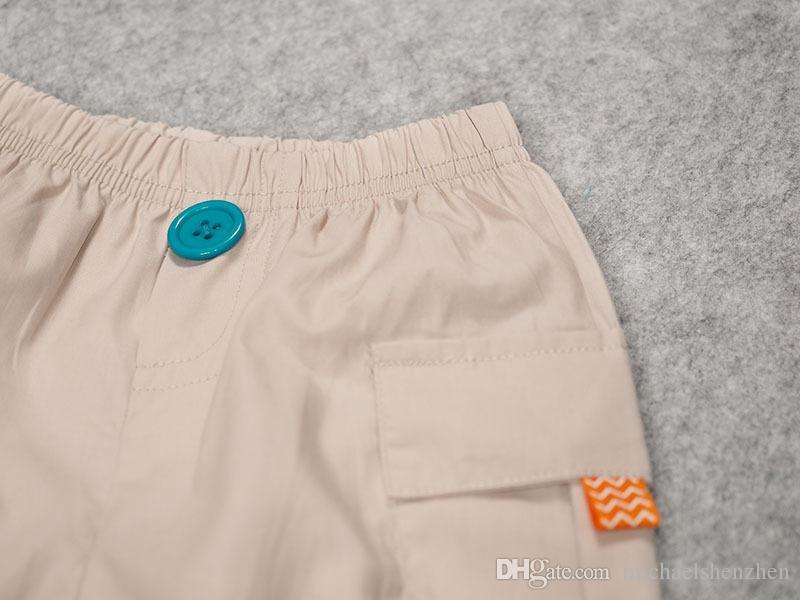 Junge INS Löwenkopfstreifen Freizeitanzug DHL Sommerkinder Cartoon Ins Kurzarm T-Shirt + Shorts 2 Stück Anzug Babykleidung B001
