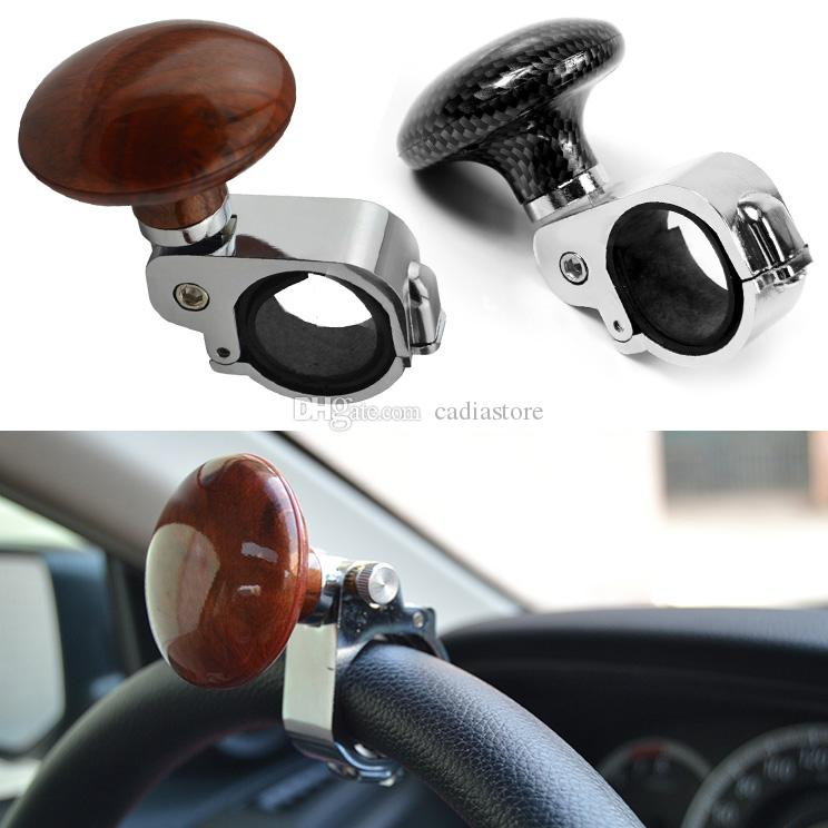 Electric Vehicle Parts 1x Hickory Car Auto Steering Wheel Suicide Spinner Handle Knob Booster Metal 100% High Quality Materials Controllers