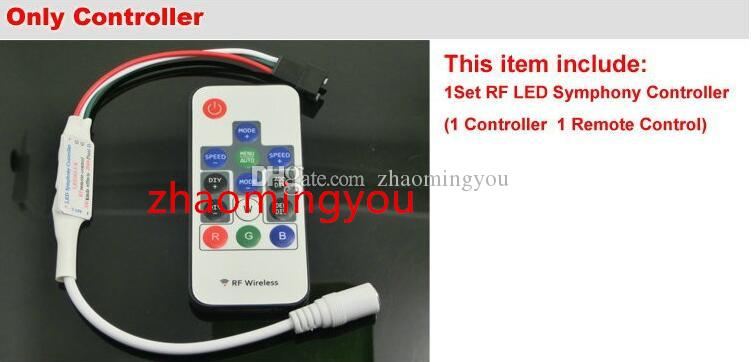 Envío gratis 2811 Dream Magic Color 5050 RGB Digital LED Strip, DC12V 60LED / m IP67 Impermeable inteligente LED Strip.