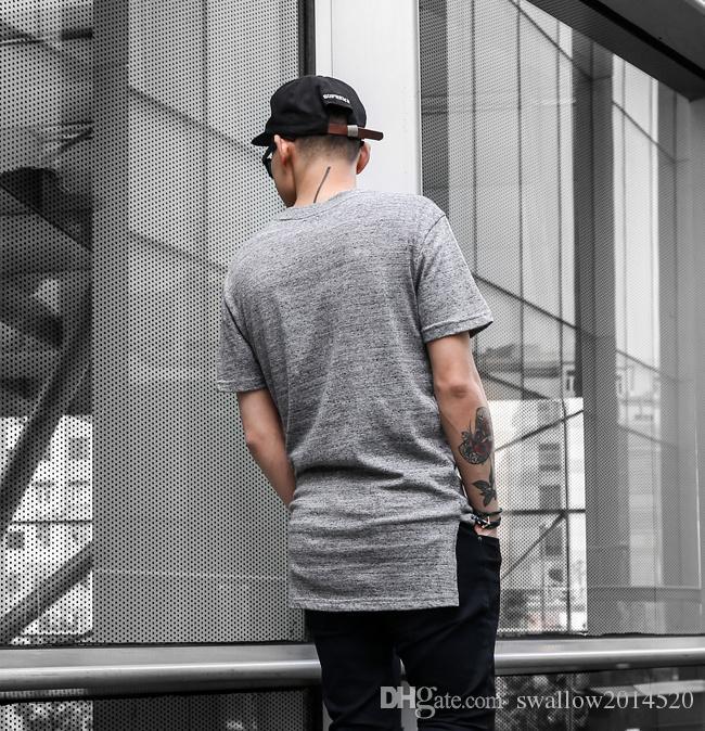 Long High Low Tee New 2016 Fashion Hip Hop Man Summer Tops T-shirt T Shirt Men Tyga Swag Clothing Clothes Kanye West