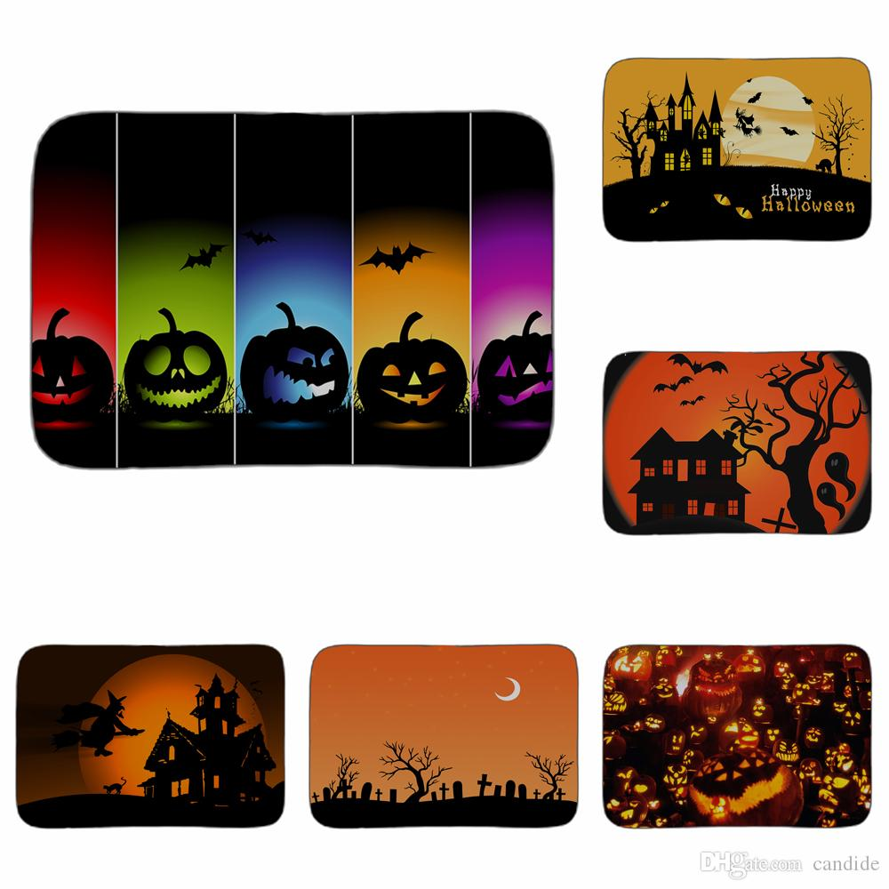 Halloween Pumpkins Art Mat Bathroom Kitchen Floor Carpet Decorative Living  Room Car Rugs Entrance Home Decor 40x60cm Wall Carpet Tiles Mohawk Carpets  Uk ...