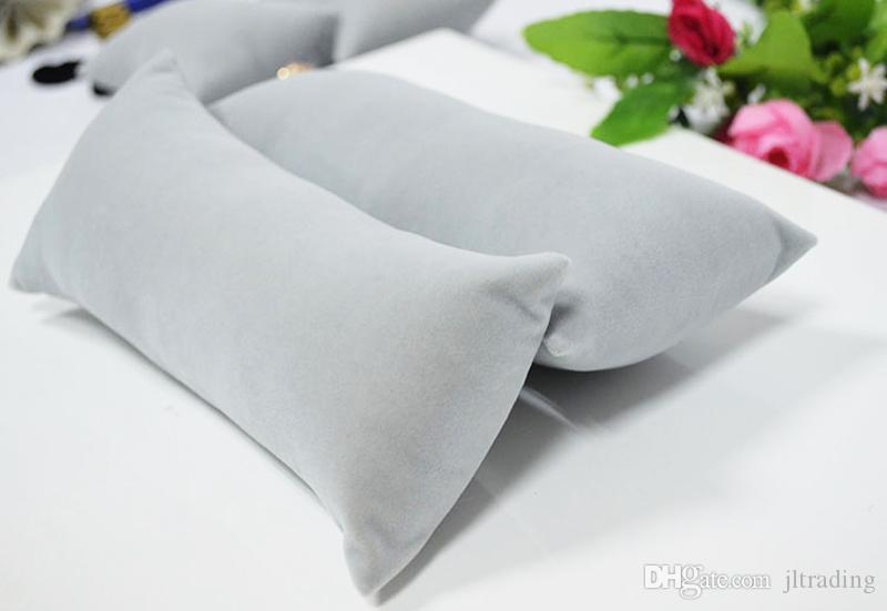 Grey/Gray Velvet Jewelry Display Cushion Pillow Jewellery Box Jewelry Stand Pillow Rack Holder for Watch Bracelet Bangle