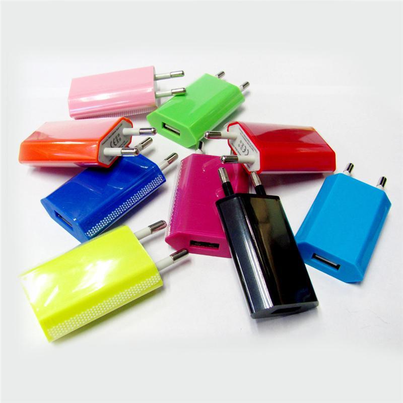 Coloridos Cargadores Directos Cargadores de teléfono universales para EE. UU. Enchufe de la UE Adaptador de corriente alterna Cargador de viaje Cargador de pared