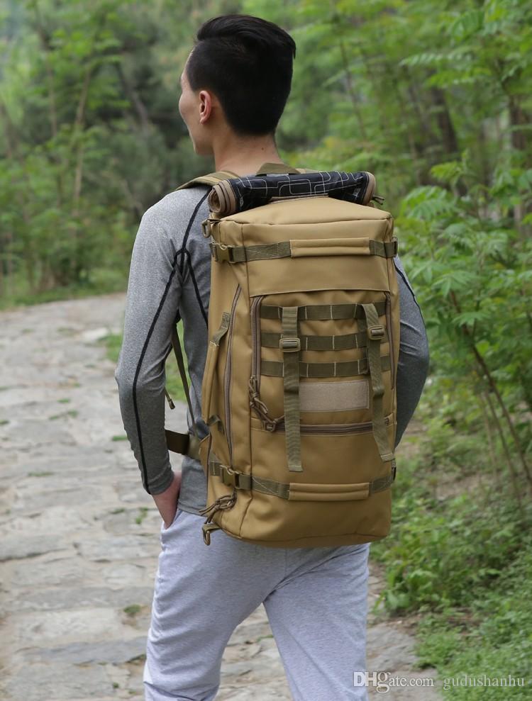 2016 heißer militär taktischer rucksack outdoor sport rucksack wandern camping männer reise taschen camouflage laptop rucksack local lion 54