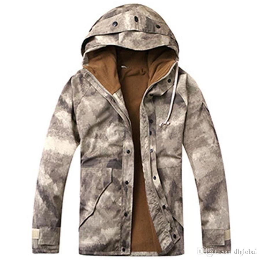 Cappotto da pesca in pile da trekking impermeabile da uomo in felpa impermeabile da caccia camouflage