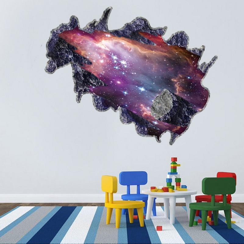 Cm Wall Stickers Creative Galaxy D Space Meteorites Home Decor   How To Remove  Wall Decals