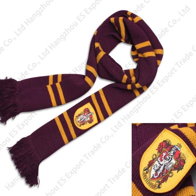 Harry Potter Foulards Gryffondor Serdaigle Puffle-Pouce Panthéon Serpentard Badge Grande Écharpe COS Performance Épaissir Wraps En Vacances Halloween