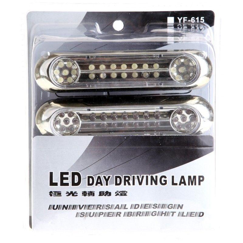 / Bianca Universale 28 diurne a LED il trasporto della luce DRL della nebbia dell'automobile Giorno Guidare libera della lampada