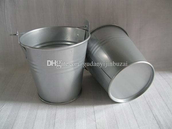Cheap D7.5*H7.5CM Metal cup Planter tin box Iron pots wedding favor holder mini bucket baby shower pail