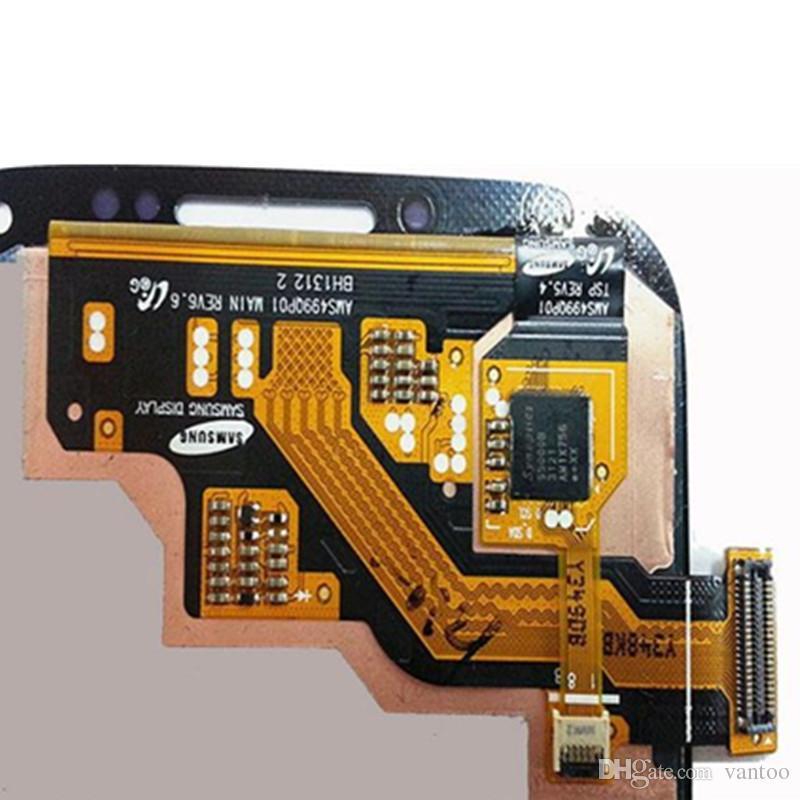 Original display lcd com tela de toque digitador assembléia peças de reparo para samsung galaxy s4 i9500 i9505 livre dhl
