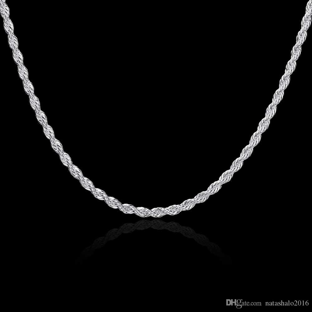 2020 Brand Jewelry Silver Necklace Mens Necklace Jewelry Twisted Rope Simple Round With Gifts Box Wholesale Statement Necklace Nk 13 From Natashalo2016 2 77 Dhgate Com