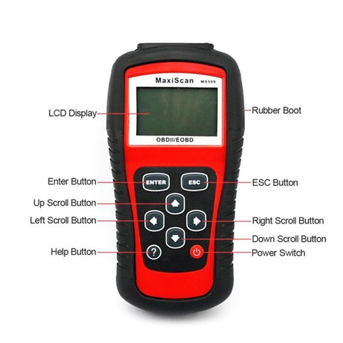 Scanner automatico Autel MaxiScan MS509 OBD Scan Tool OBD2 Lettore di codice scanner