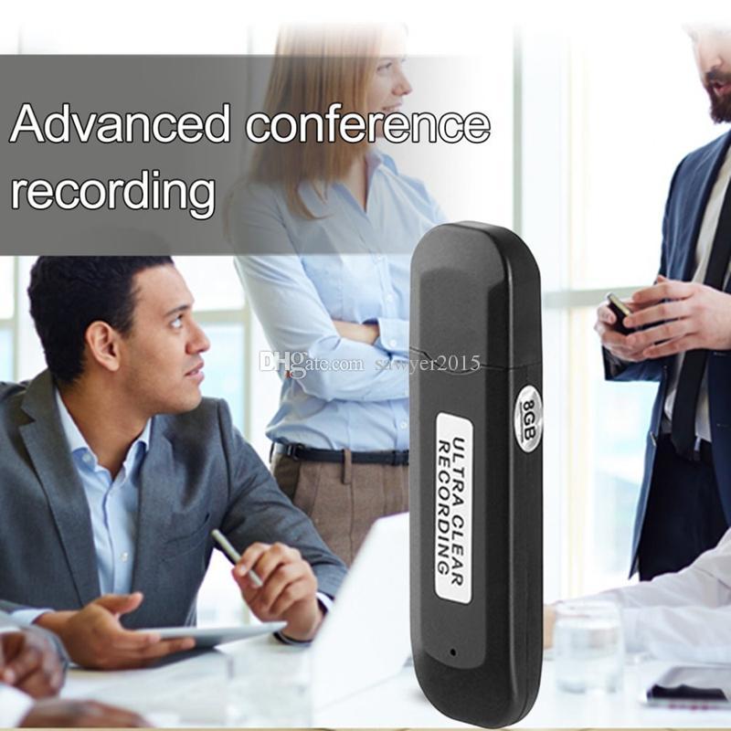 2 في 1 محرك أقراص فلاش USB مسجل صوت رقمي صغير محمول الإملاء الصوتي 8GB USB قرص صوت مسجل MP3 الشكل