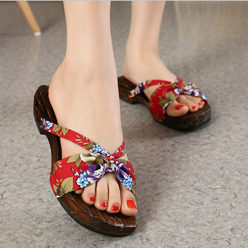 Wholesale 2016 Summer Women Sandals Japanese Geta For ...