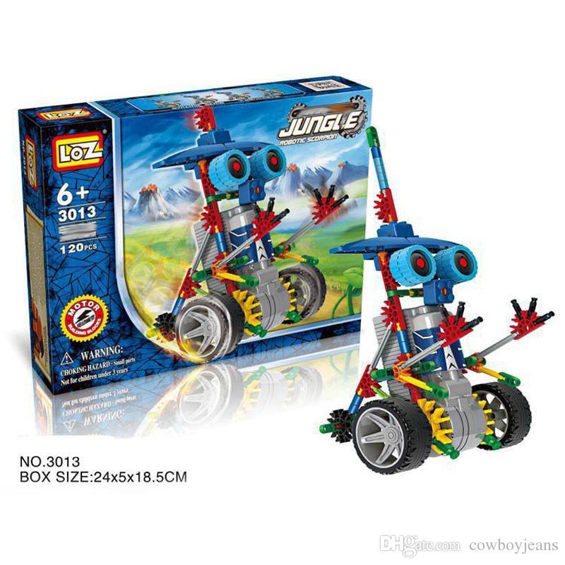 LOZ Robot Electric Building Blocks Assembly DIY Educational Dinosaur Model Toys For Children Kids Gifts 3011-3018 Education toys