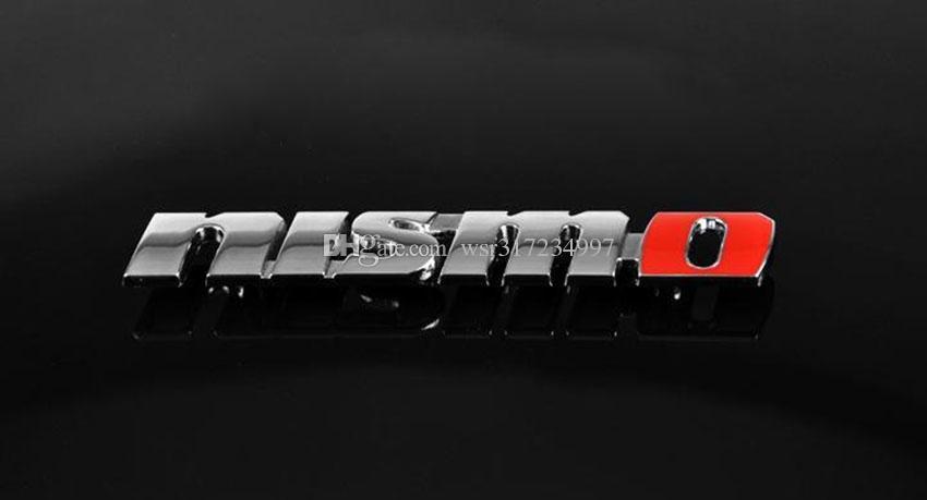 / Aluminium en métal Nismo Logo Emblème Decal Badge Autocollant De Voiture Pour GTR Altima 350Z 370Z 240SX ECT style de voiture