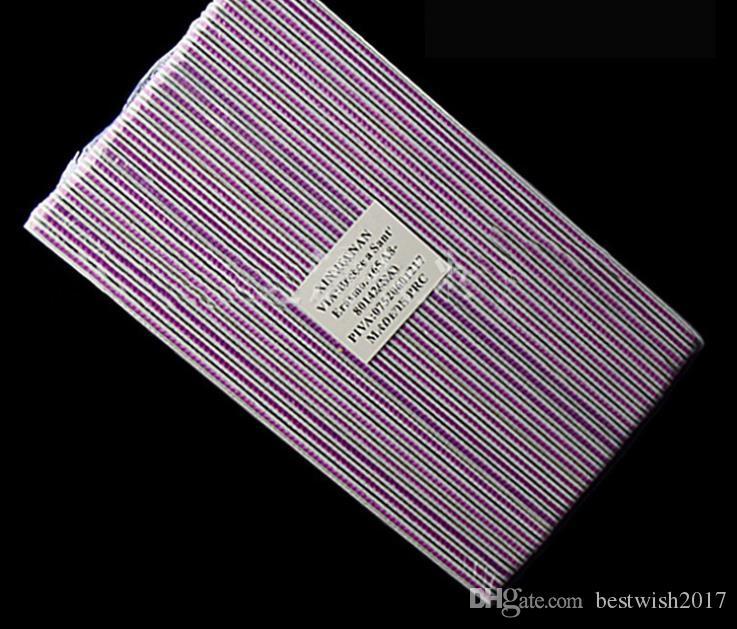 MA Pro 25 Pçs / lote 100/180 Magro Emery Cinza Prego Tampão de Lixa Lixa de Unhas Arquivos Manicure Pedicure Ferramenta Nail Art cor: rosa