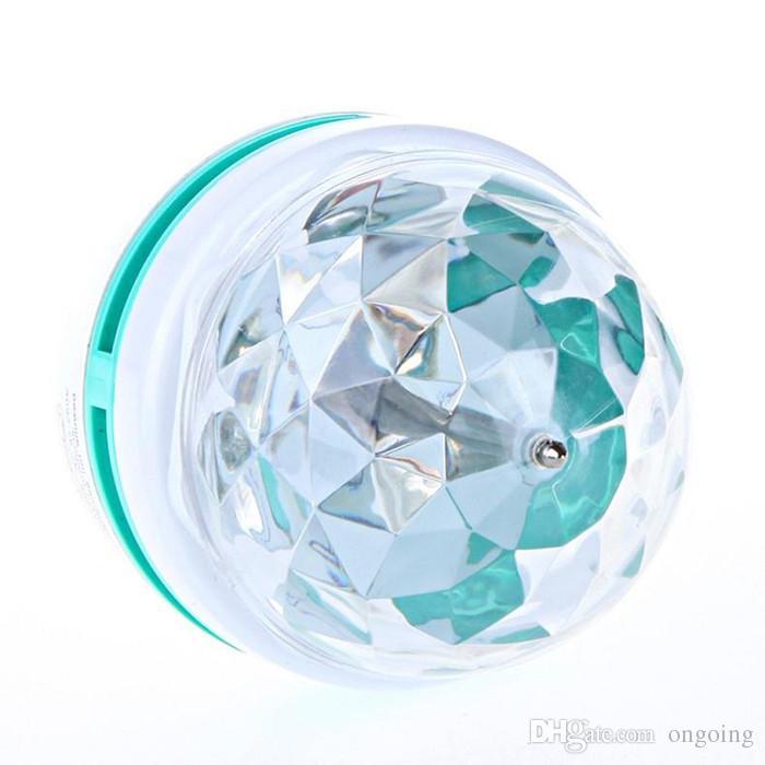 RGB-LED-Lampe Vollfarb-3W 220V Projektor Crystal Bühne Magic Ball RGB Vollfarb-3W E27 LED-Lampe Crystal Auto rotierenden Bühne Effektlicht