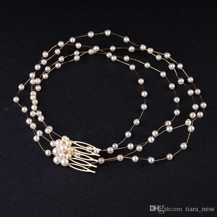 New Fashion Pearl Leaf Headpiece Wedding Women Hair Accessories Special Occasion Bridal Hair Clips