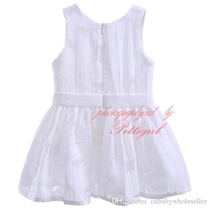 New Fashion Pettigirl Solid White Tulle Abbigliamento Set neonati e bambini Ragazze Floral Print Shorts Bowknot Top Baby Wear CMCS90315-274