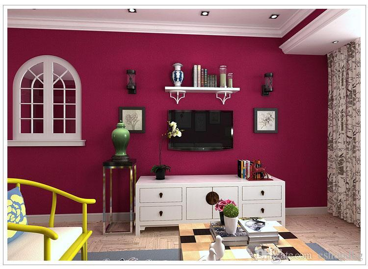 Romantic About Rose Red Solid Wallpaper 3d Wall Paper Papel De Parede Living  Room Wallpaper 3d Wallpapers Home Decoration Part 38