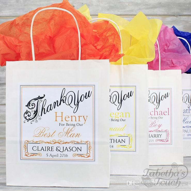 Wedding Decorations Party Personalised Wedding Favour Party Gift Bag