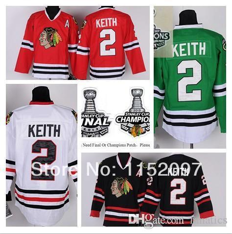 2016 New Style Duncan Keith Jersey  2 Chicago Blackhawks Ice Hockey Jerseys  Finals Champions Home Road Red White Black Green Sports Jerseys Cheap  Sports ... 1d671519a