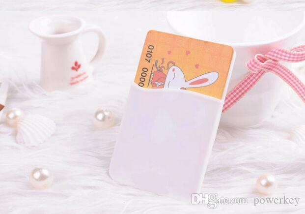 2017 Silicone Wallet Credit Card Cash Pocket Sticker Adhesive Holder Pouch Mobile Phone 3M Gadget iphone Samsung