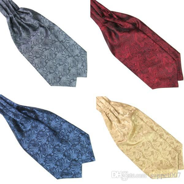 0b1319231385 Hot Ascot Tie Cravat Luxury Mens Neck Tie Satin Scarf Self Tie Wedding  Scarf Gold Ties Yellow Bow Tie From Supper007, $1.99| DHgate.Com