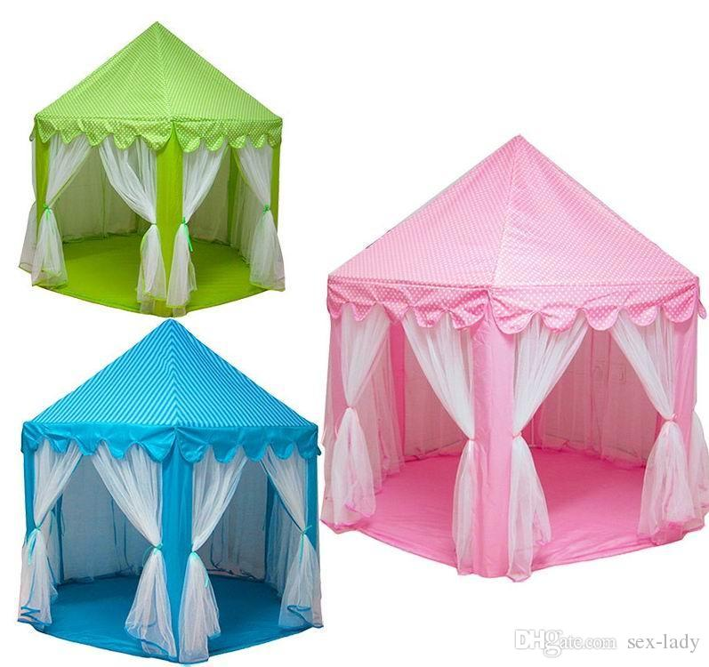 Kids Play Tents Prince and Princess Party Tent Children Indoor Outdoor tent Game House Three Colors for Choose