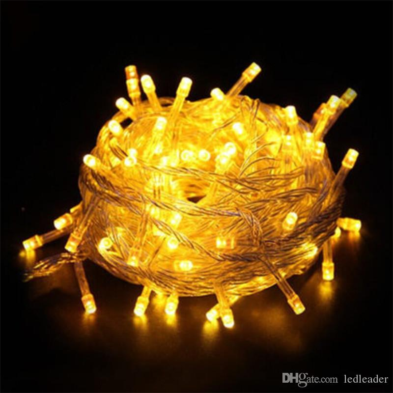 Chain Fairy String Lights Ac220v Ip44 33ft 10m 100led Warm White Red ...