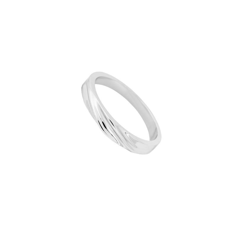 ring simple in cute white bands rose diamond wedding gold curved band