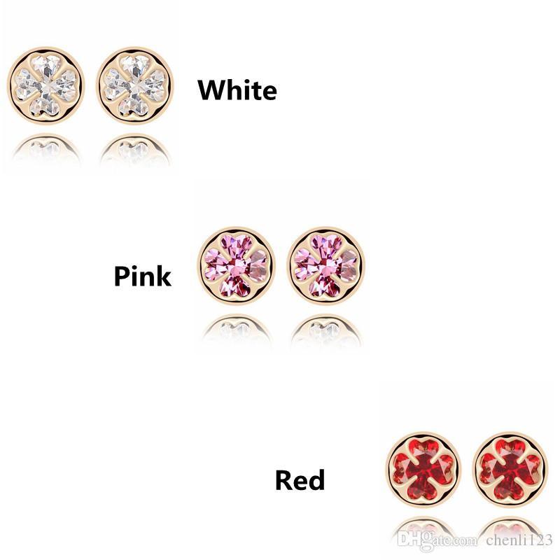 Bijoux Romantique Boucles D'oreilles Pour Les Femmes Élégant Cubique Zircone Pierre Boucle D'oreille CZ Diamant Cristal Accessoires 6994