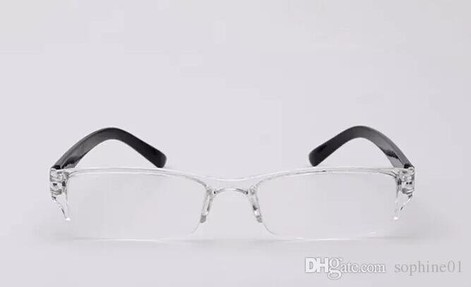 Mode Kunststoff Lesebrille TR90 Mini Randlose Presbyopie Pocket Reader Design Optik Lesebrille für Männer Frauen