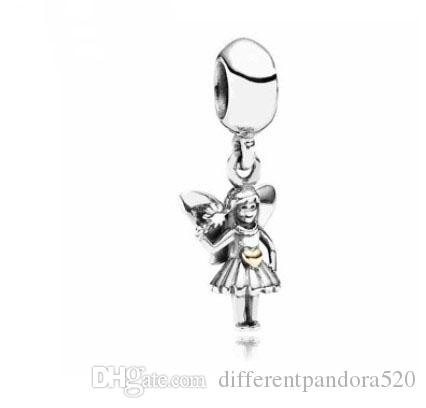 887d839b2 2019 Fit Pandora Charm Bracelet European Silver Charms Angel Girl Pendant  Spirits Dangle Beads DIY Snake Chain For Women Bangle Necklace Jewelry From  ...