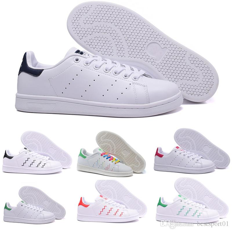 super popular 8241b d67ff Acquista Adidas Smith Superstar 2016 Superstar Raf Simons Stan Smith  Primavera Rame Bianco Rosa Nero Moda Uomo Scarpe Uomo Casual Di Marca Donna Scarpe  Da ...