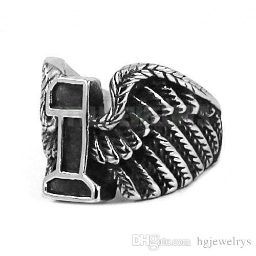 ! Eagle Wings No.1 Motor Biker Ring Stainless Steel Jewelry New Design Wing Motorcycle Men Ring Wholesale SWR0439B