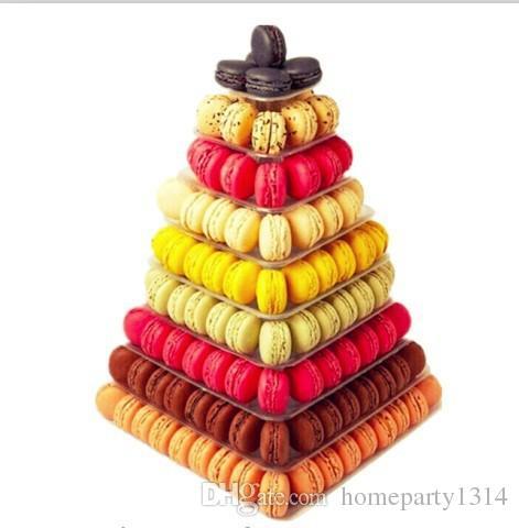 الحلوى كعكة الزفاف الديكور الجدول الوقوف برج معكرون 9 الفئة ساحة معكرون العرض حفل عيد ميلاد حفلة عيد الميلاد الحلوى العرض