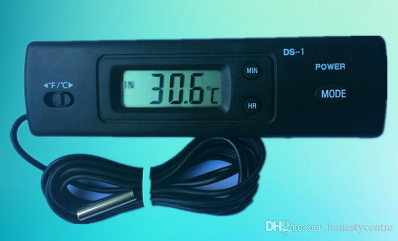 Profession Temperature Measuring Instruments Car Digital LCD display Thermometer C/F Selection DS-1 with Two Probes
