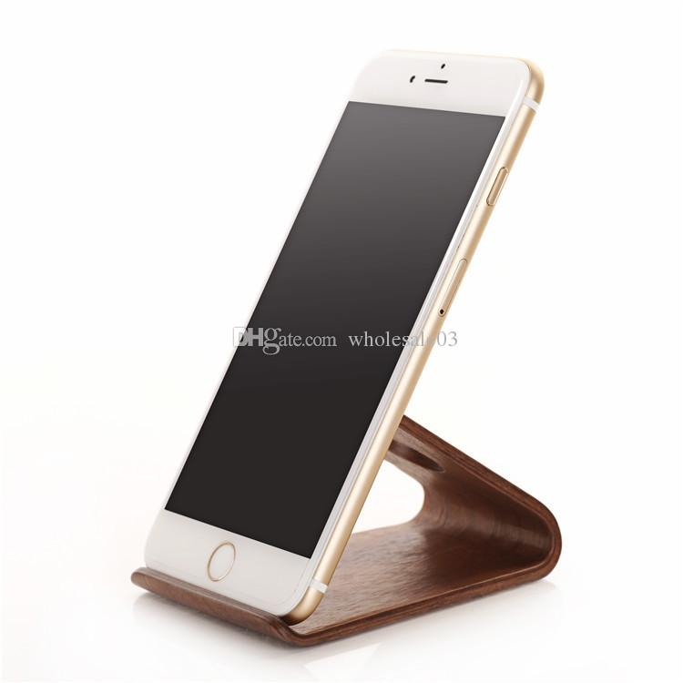 2016 Original SAMDI Wood Holder Stand for iPhone 6 6plus for Samsung Note3 Note4 S4 S5 and all more than 5 inch Mobile Phone