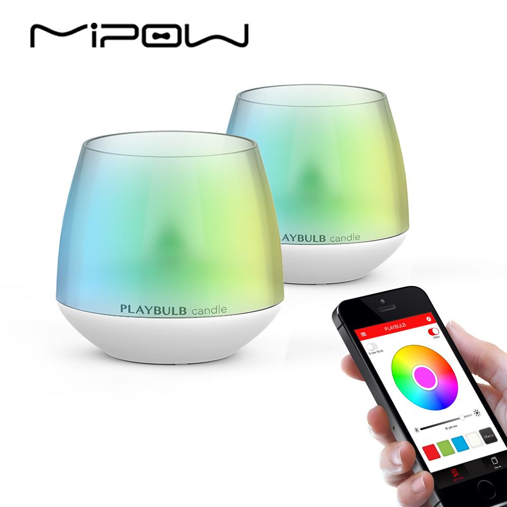 Mipow Playbulb Led Candle Smartphone App Controlled Smart Aromatherapy Candles  Light Color Flameless Multi Colors Lighting Smart Smart Illumination From  ...